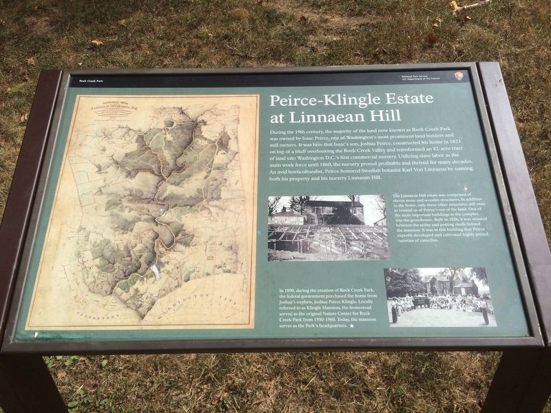 Peirce-Klingle Estate at Linnaean Hill Marker image. Click for full size.