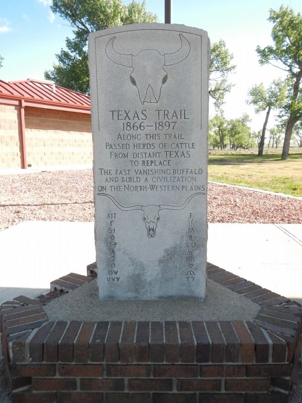 Texas Trail Marker image. Click for full size.