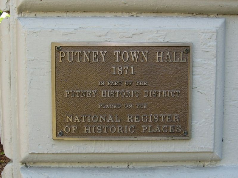 Putney Town Hall Marker image. Click for full size.