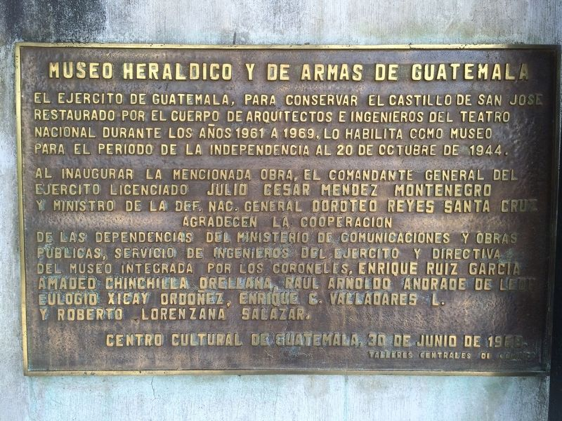 The Guatemalan Military Museum Marker image. Click for full size.