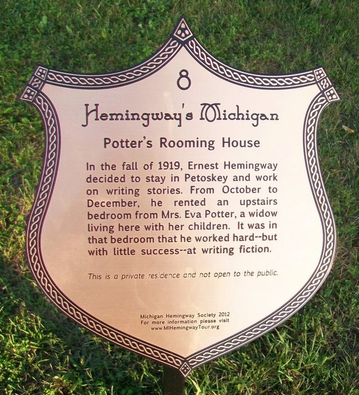 Potter's Rooming House Marker image. Click for full size.