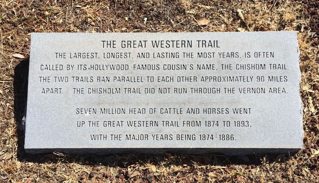 The Great Western Trail Marker image. Click for full size.