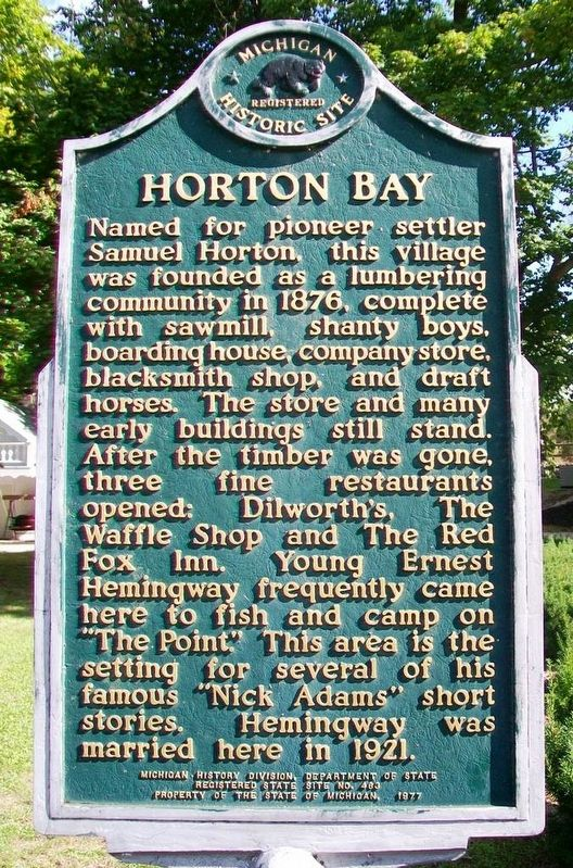 Horton Bay Marker image. Click for full size.