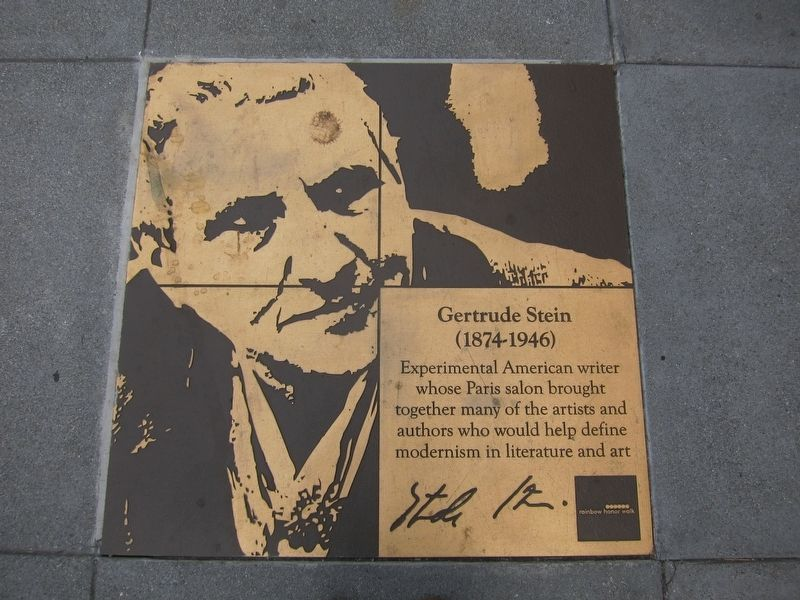 Gertrude Stein Marker image. Click for full size.