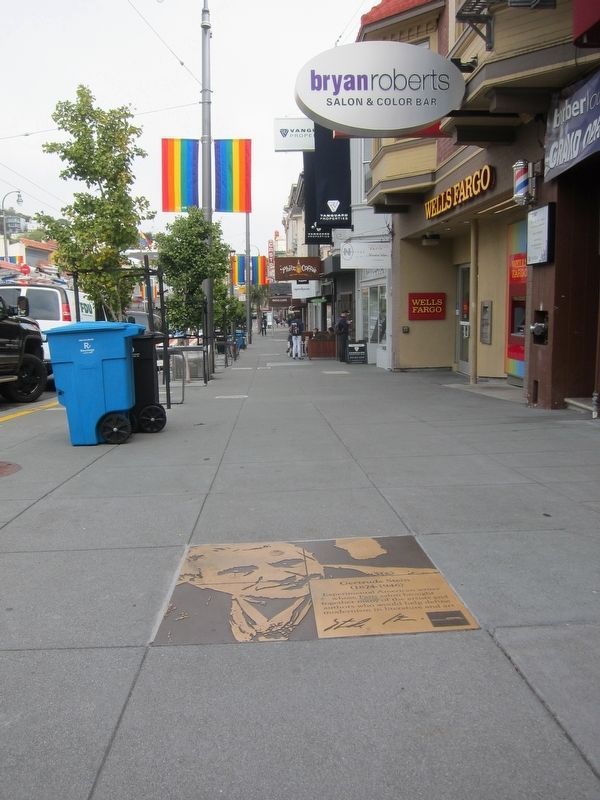 Gertrude Stein Marker - Wide View Looking North up Castro Street image. Click for full size.