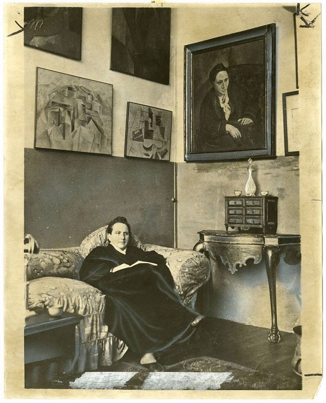 Gertrude Stein in Paris image. Click for full size.