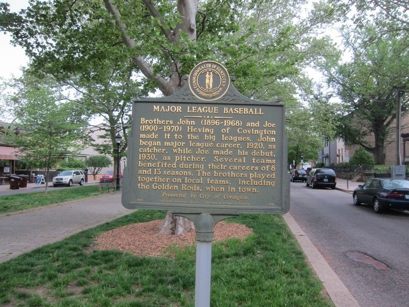 Major League Baseball Marker - West Facing Side image. Click for full size.