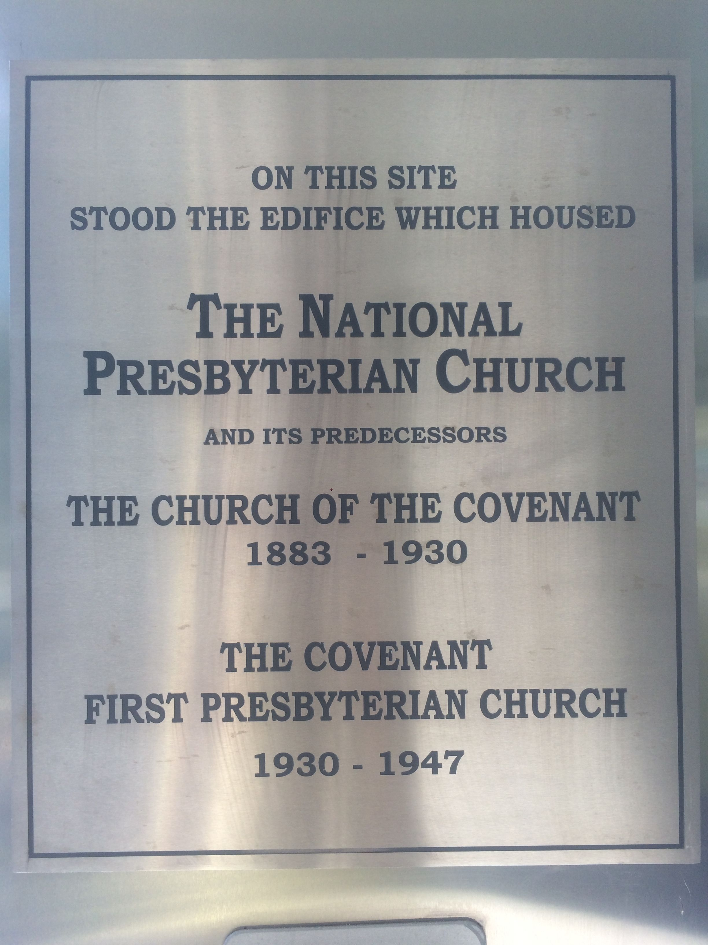 The National Presbyterian Church Marker