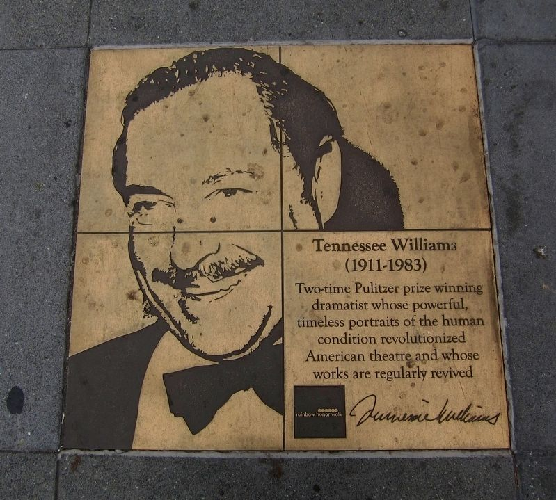 Tennessee Williams Marker image. Click for full size.