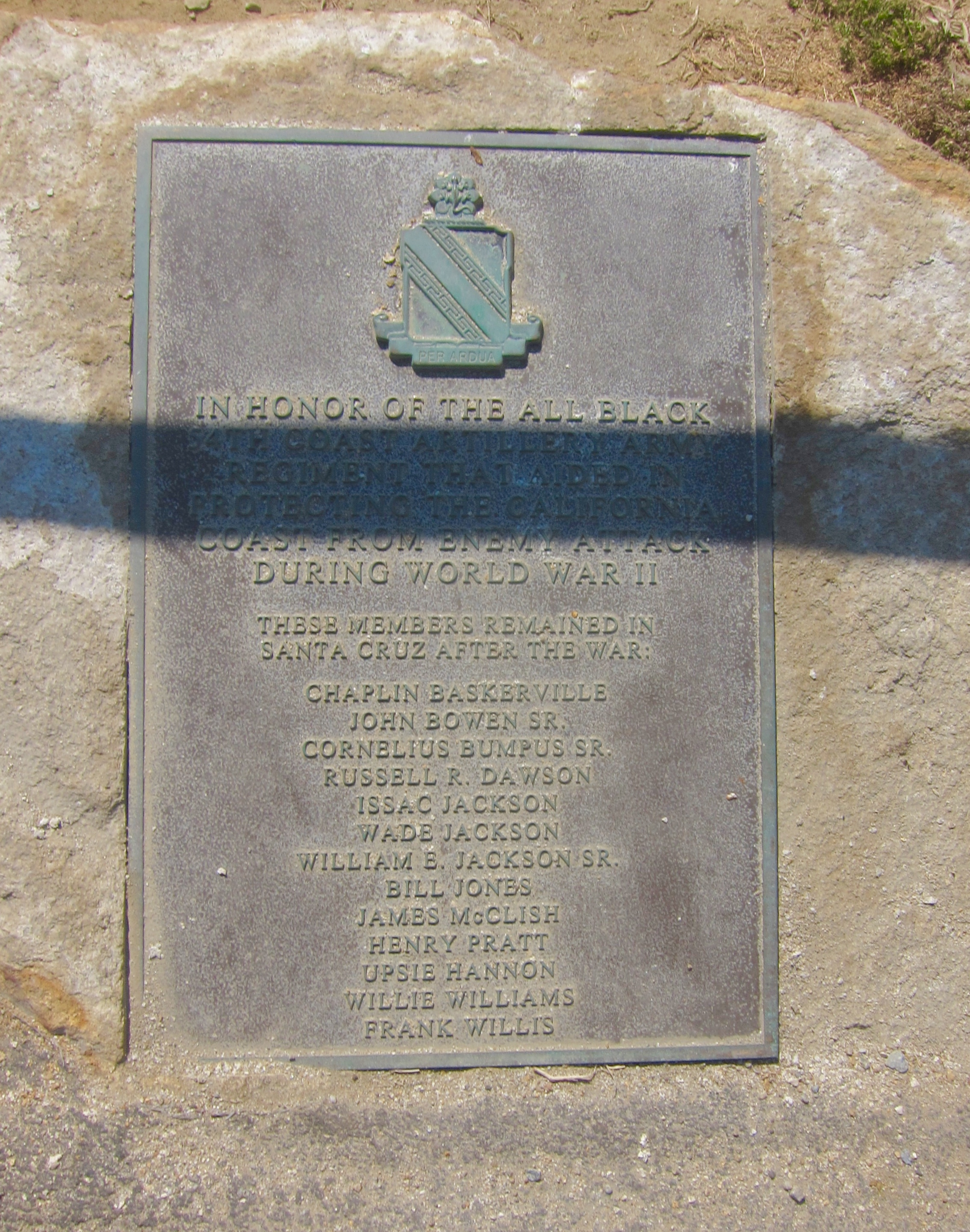 54th Coast Artillery Army Regiment War Memorial Marker