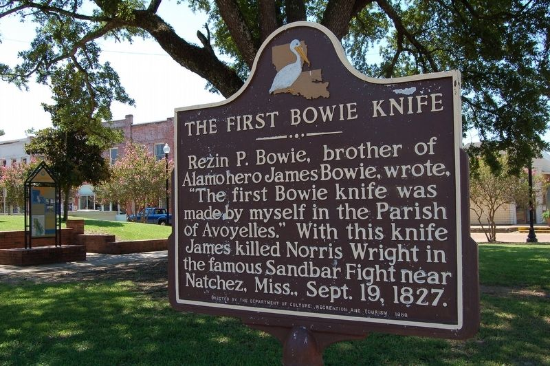 The First Bowie Knife Marker image. Click for full size.
