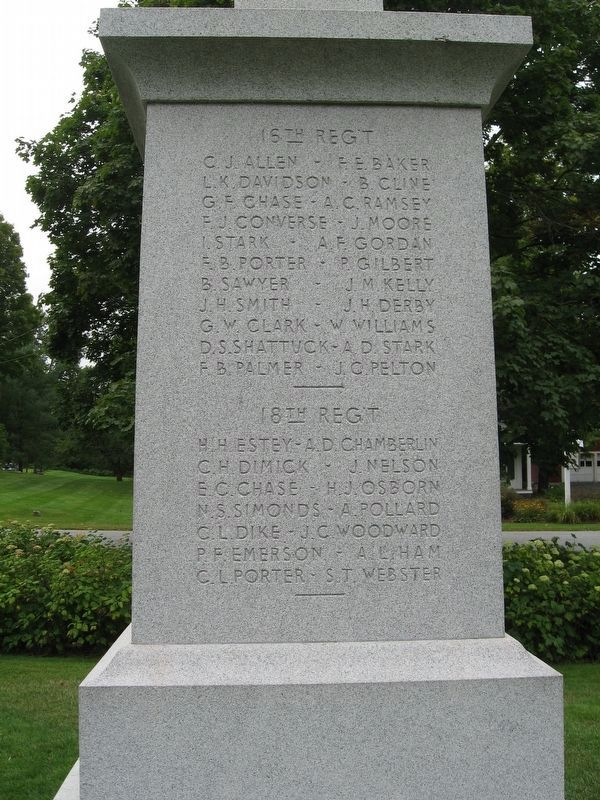 Lyme Civil War Monument image. Click for full size.