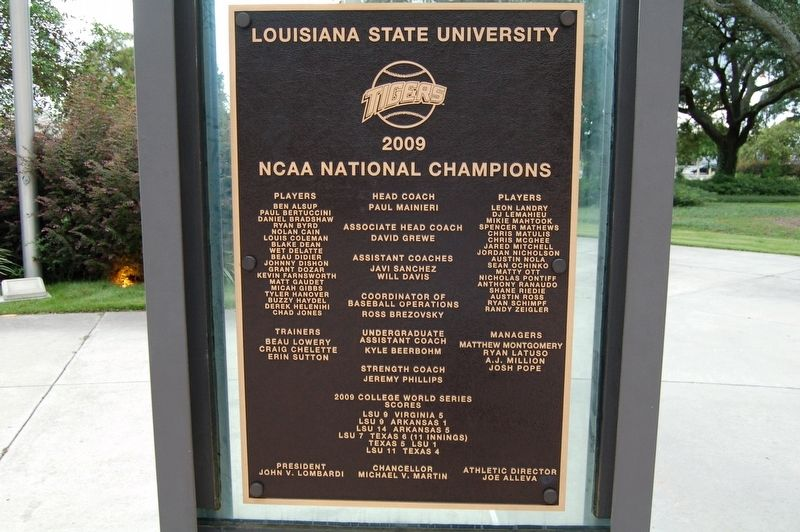 2009 National Champions Marker image. Click for full size.