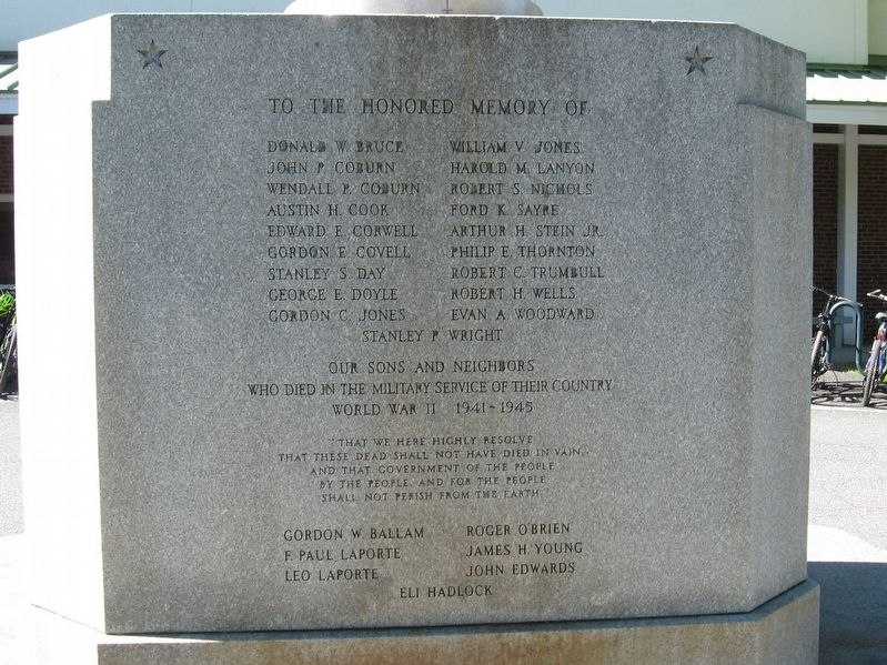 Hanover World War II Memorial image. Click for full size.