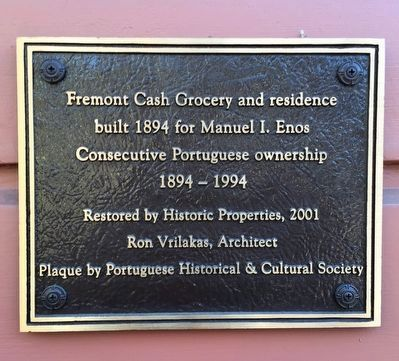 Fremont Cash Grocery Marker image. Click for full size.