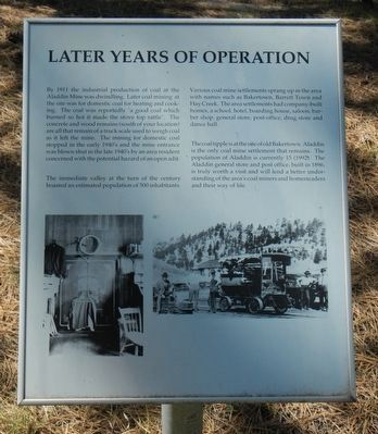 Later Years of Operation Marker image. Click for full size.