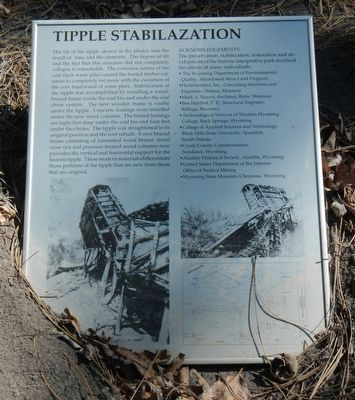 Tipple Stabilazation (sic) Marker image. Click for full size.