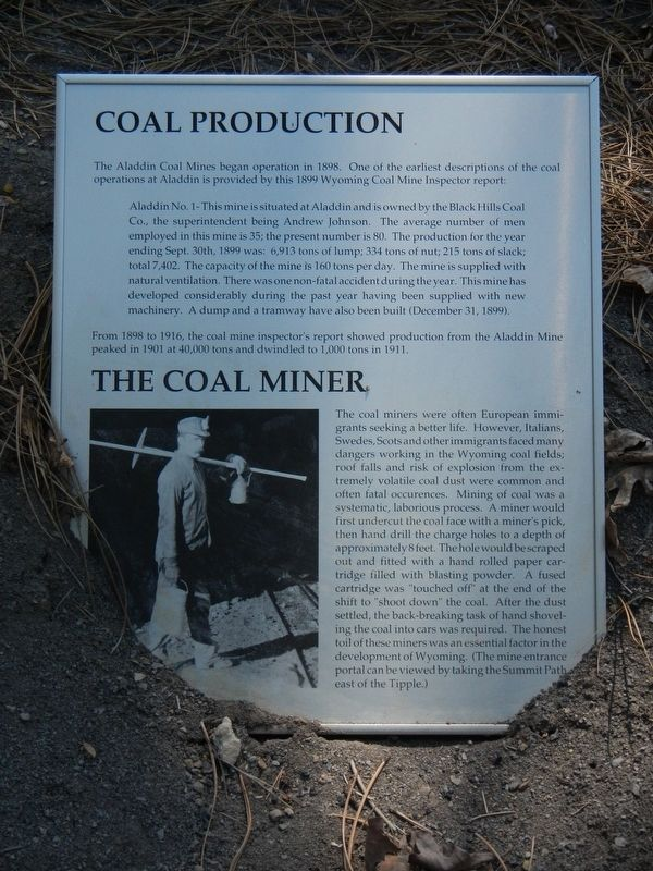 Coal Production Marker image. Click for full size.
