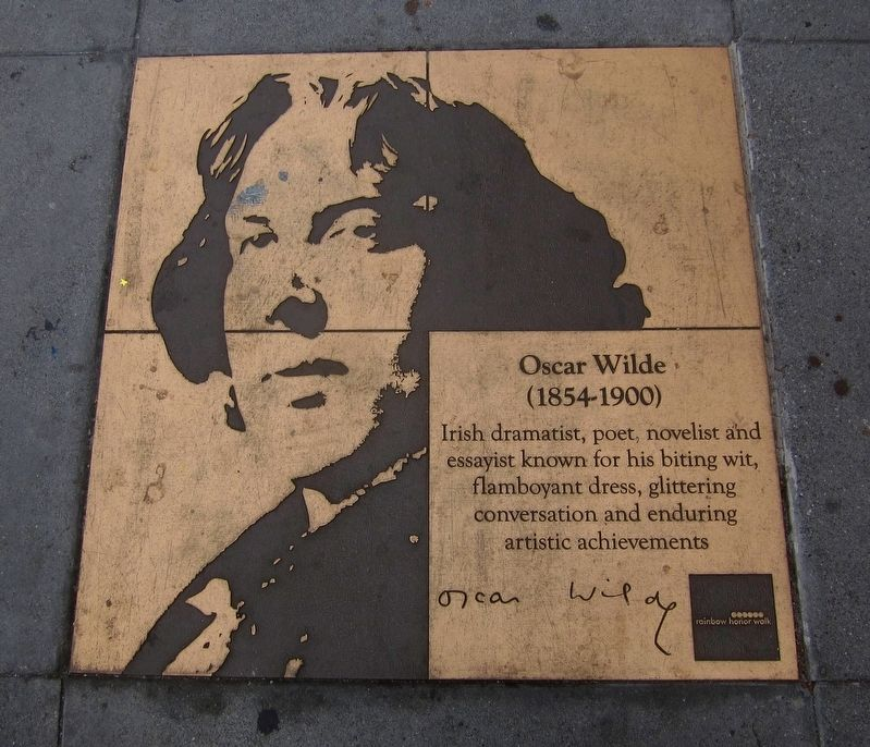 Oscar Wilde Marker image. Click for full size.