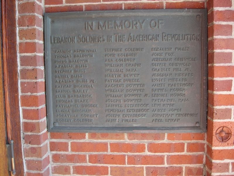 Lebanon Soldiers of the American Revolution Marker image. Click for full size.