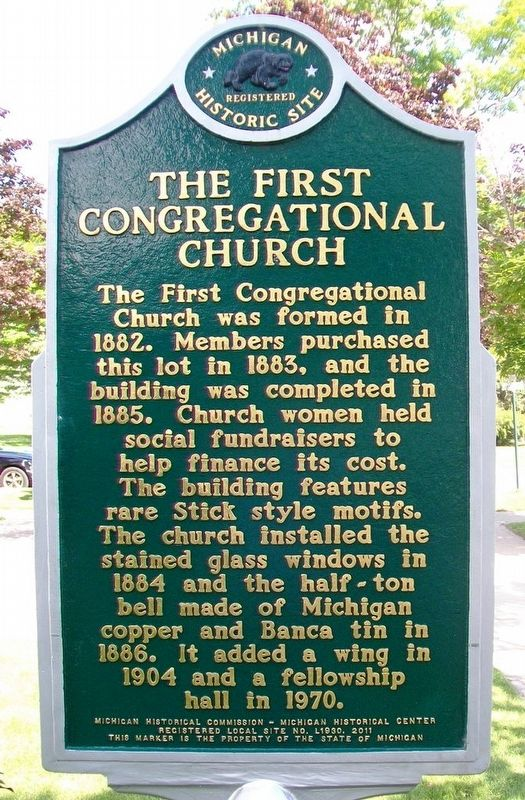 The First Congregational Church Marker image. Click for full size.