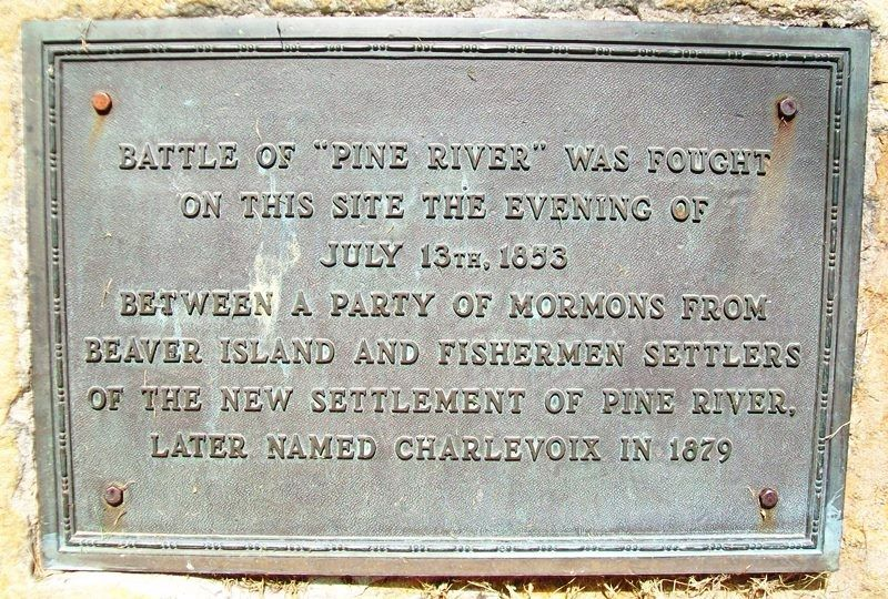 "Battle of ""Pine River"" Marker image. Click for full size."