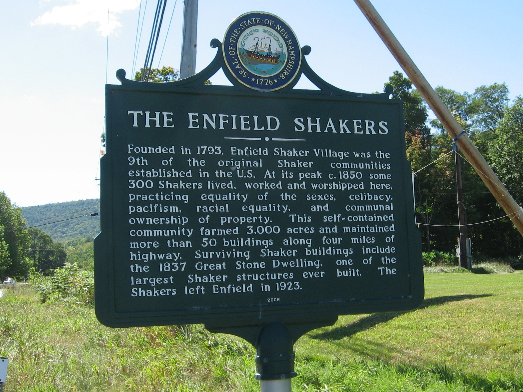 The Enfield Shakers Marker