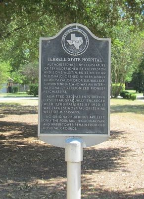 Terrell State Hospital Marker image. Click for full size.