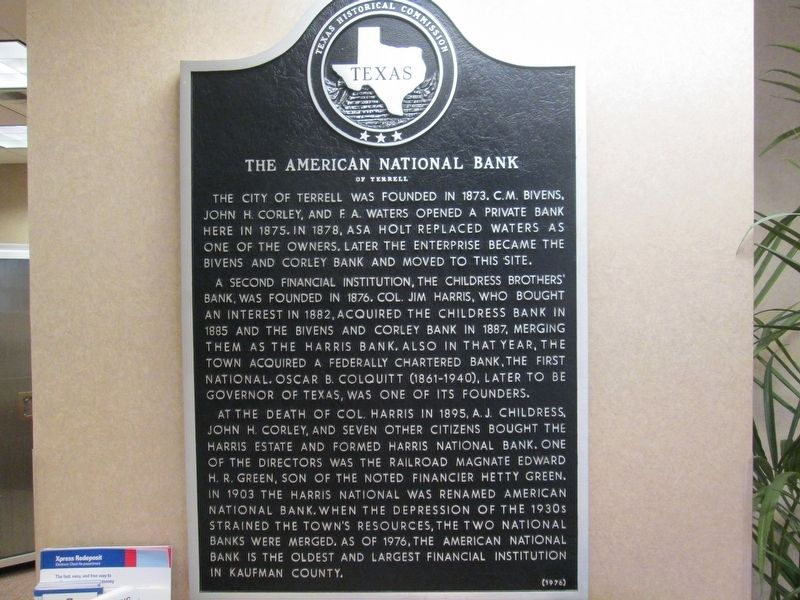 The American National Bank Marker image. Click for full size.