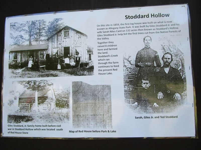 Stoddard Hollow Marker image. Click for full size.