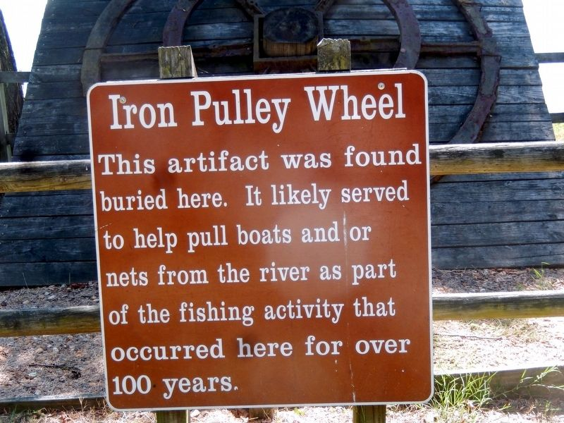 Iron Pulley Wheel Marker image. Click for full size.