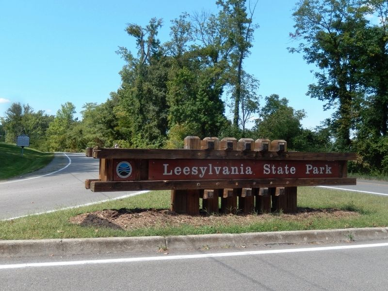 Sign at the entrance to Leesylvania State Park image. Click for full size.