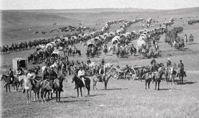 Custer Expedition's supply wagon image. Click for full size.