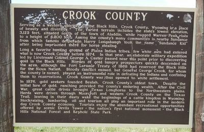 Crook County Marker image. Click for full size.