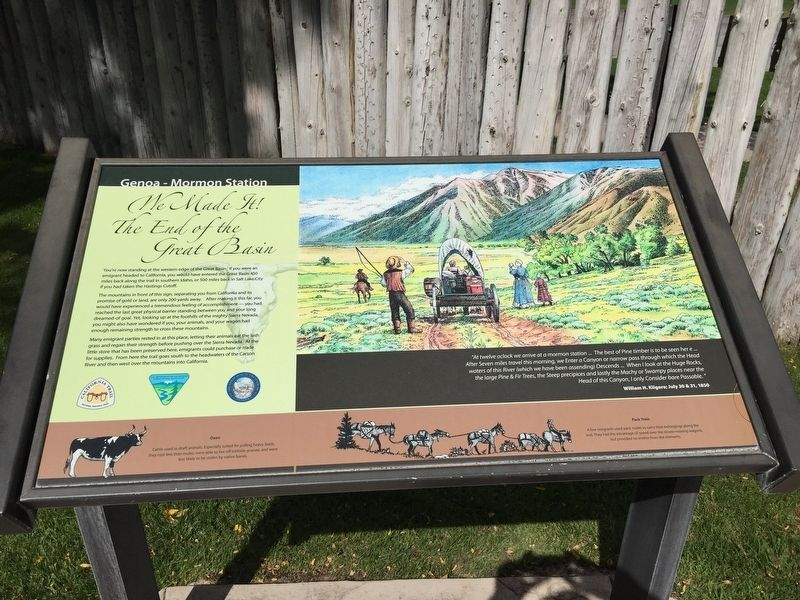 We Made It! The End of the Great Basin Marker image. Click for full size.