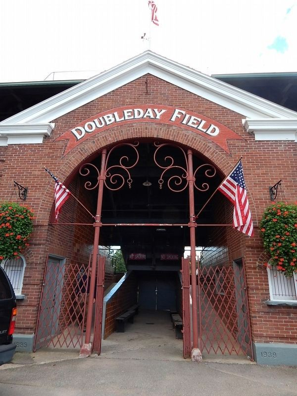 Doubleday Field Marker image. Click for full size.