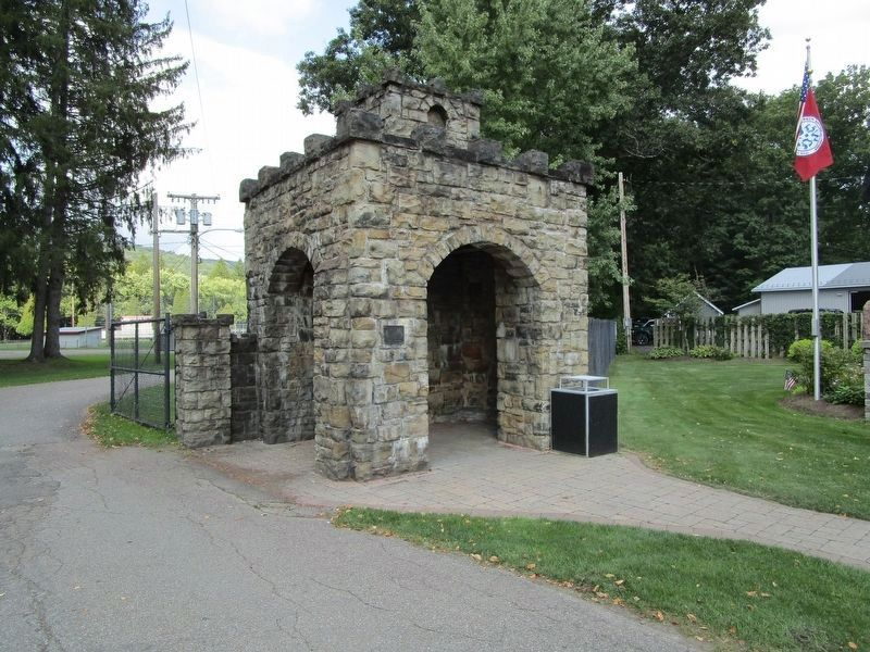 Salamanca Veterans Park Gate Shelter image. Click for full size.