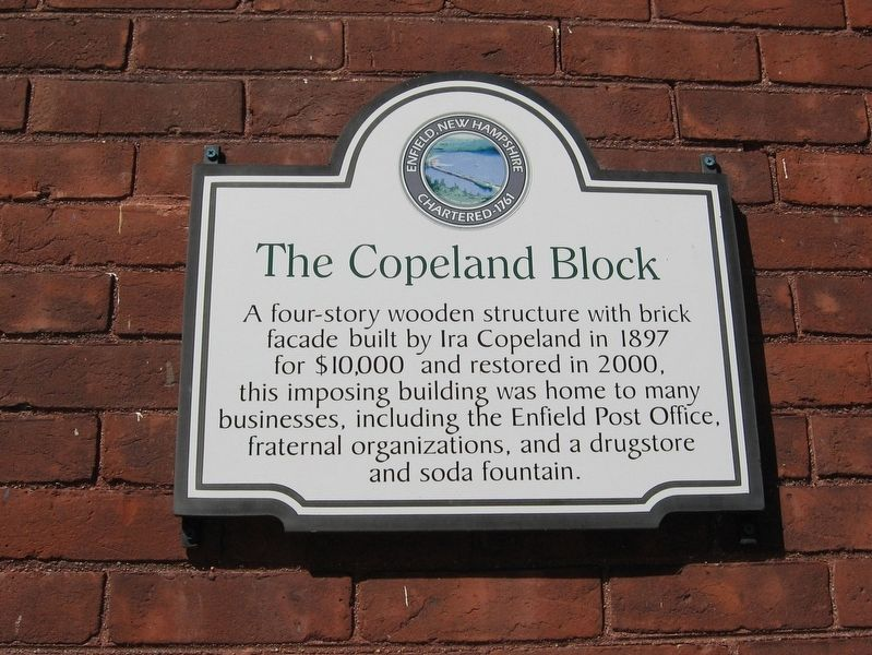 The Copeland Block Marker image. Click for full size.