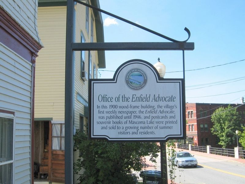 Office of the Enfield Advocate Marker image. Click for full size.