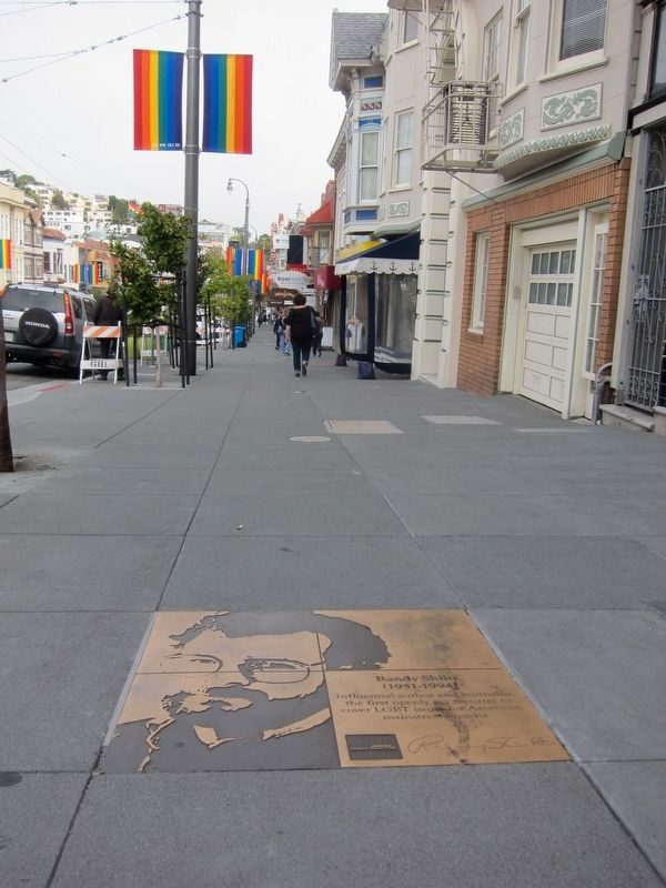 Randy Shilts Marker - Wide View, Looking North up Castro image. Click for full size.