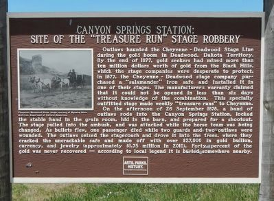 Canyon Springs Station: Marker image. Click for full size.