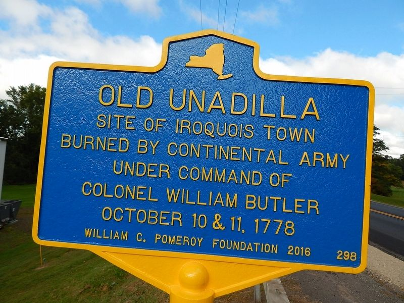 Old Unadilla Marker image. Click for full size.