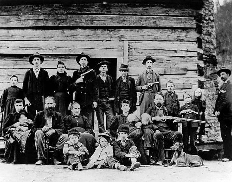 The Hatfield Clan in 1897 image. Click for full size.