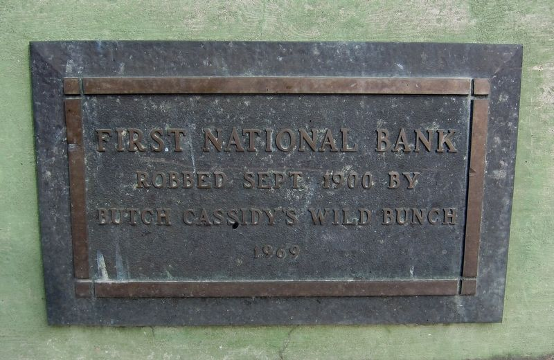 Butch Cassidy's Wild Bunch Bank Robbery Marker image. Click for full size.