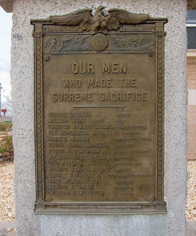 Winnemucca World War I Honor Roll Marker image. Click for full size.