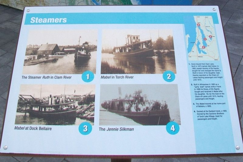 Because of the Water... Marker - Steamers image. Click for full size.