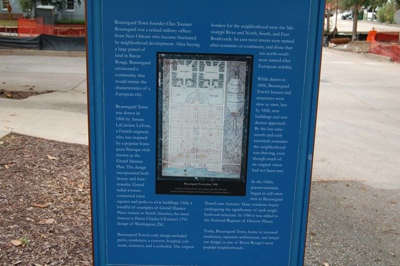 Beauregard Town Marker image. Click for full size.
