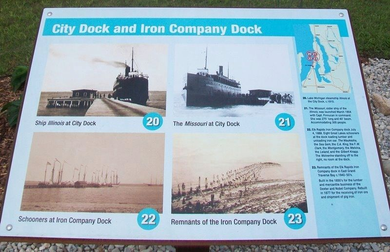 Because of the Water... Marker - City Dock and Iron Company Dock image. Click for full size.