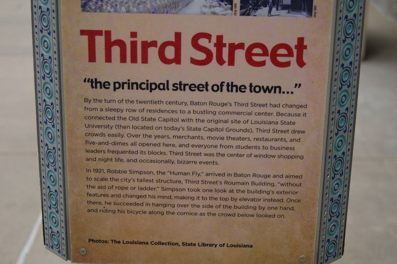 Third Street Marker image. Click for full size.