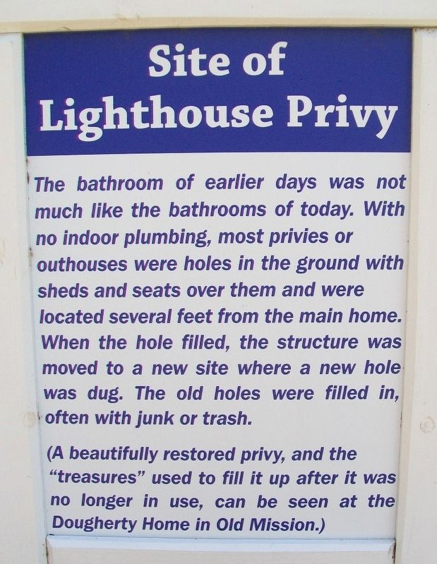 Site of Lighthouse Privy Marker image. Click for full size.